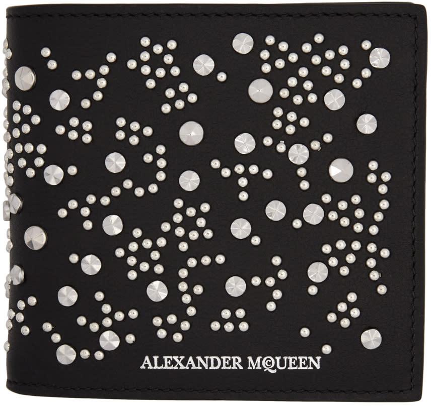 Alexander Mcqueen Black Studded Wallet