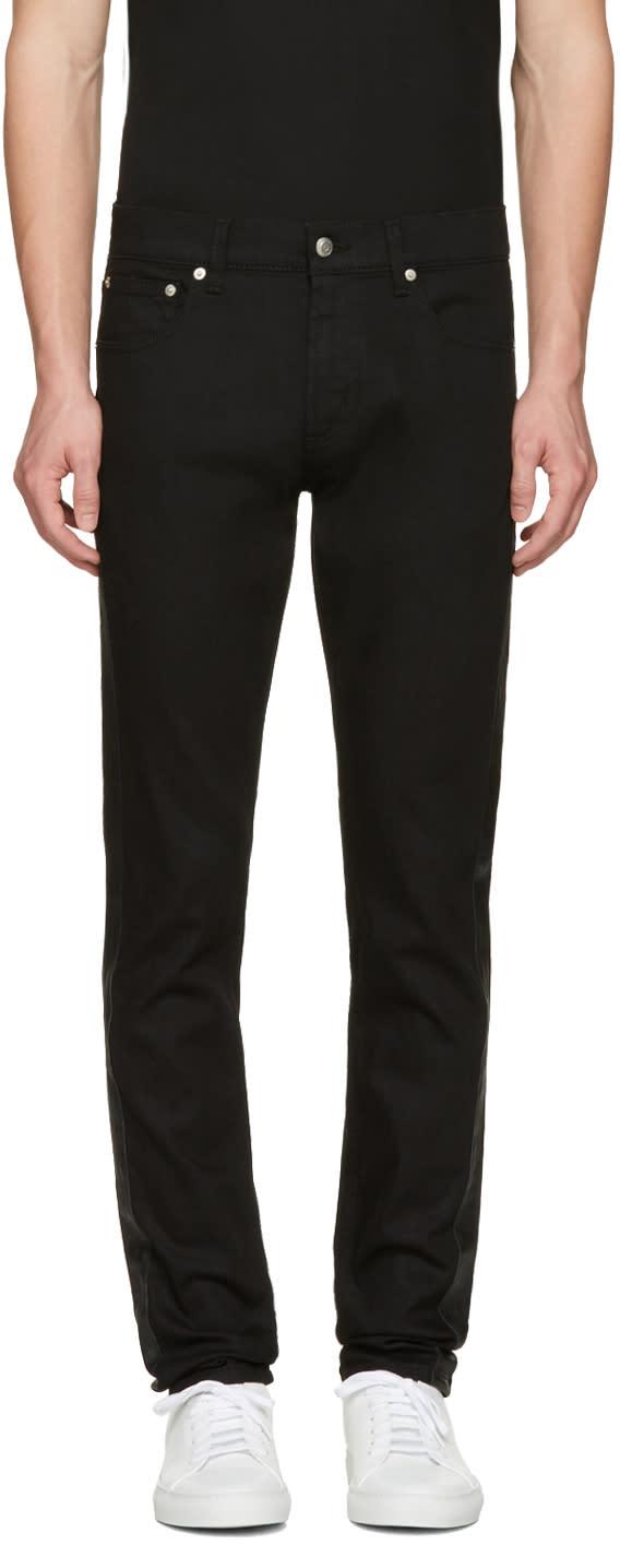 Alexander Mcqueen Black Side Stripe Jeans