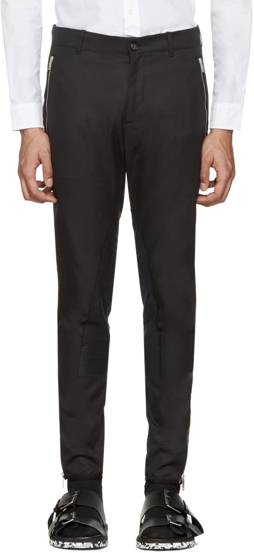 Alexander Mcqueen Black Zip and Button Trousers