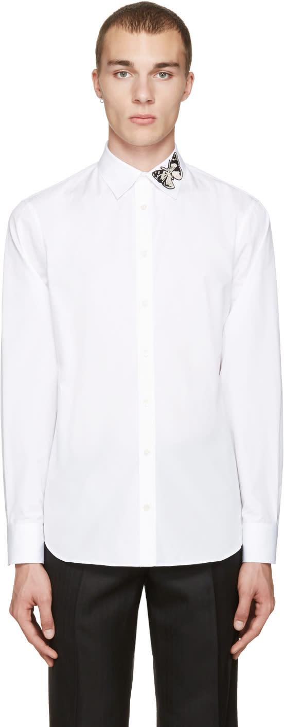 Alexander Mcqueen White Butterfly Shirt