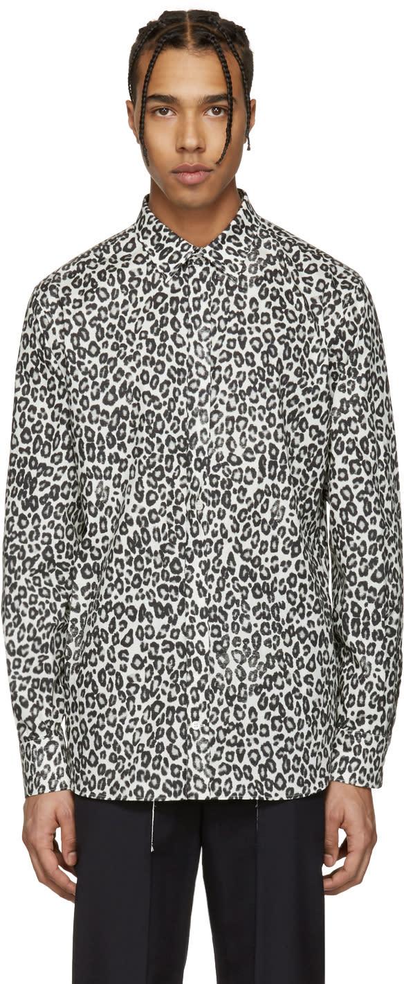 Alexander Mcqueen Ivory Leopard Shirt