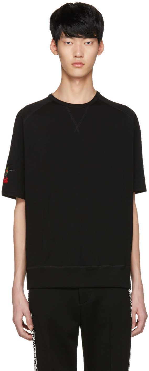 Alexander Mcqueen Black Bird T-shirt