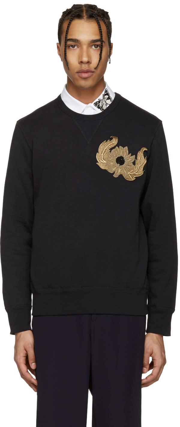 Alexander Mcqueen Black Embroidered Pullover