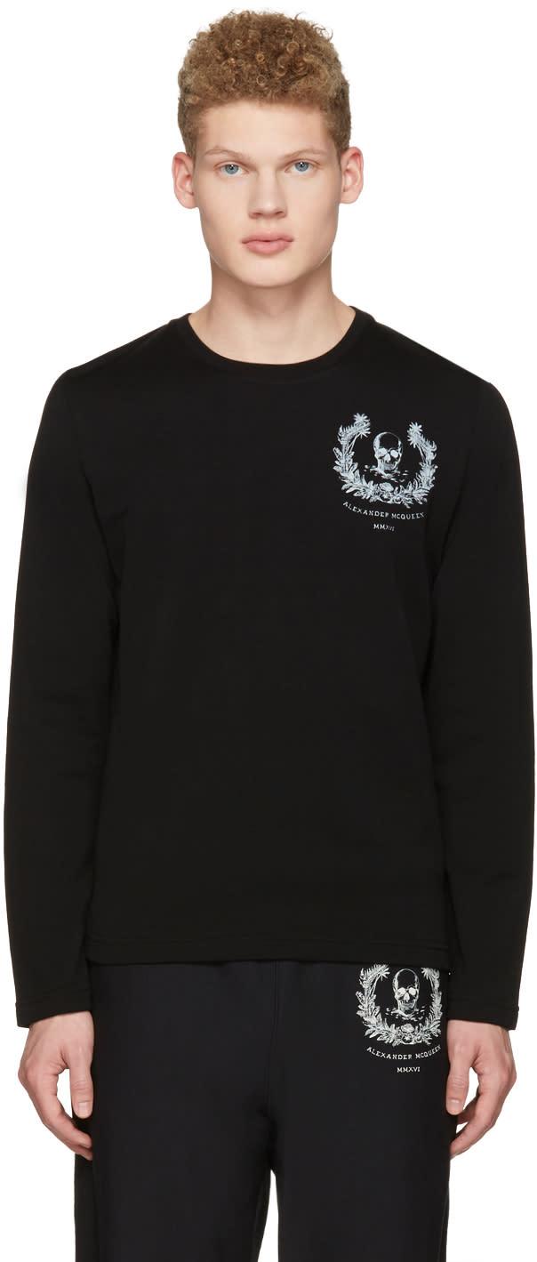Alexander Mcqueen Black Skull Long Sleeve T-shirt