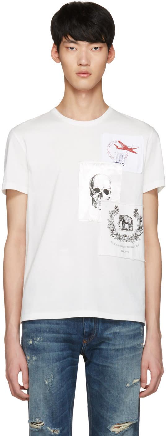 Alexander Mcqueen White Patches T-shirt