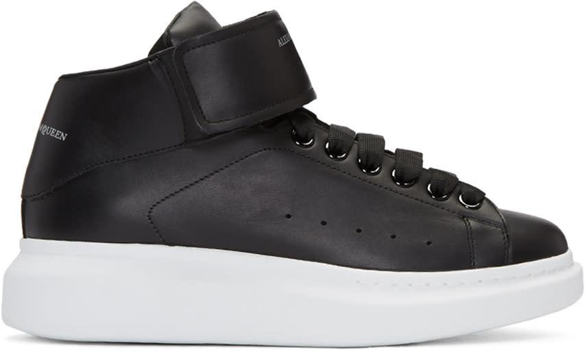 Alexander Mcqueen Black Oversized High-top Sneakers