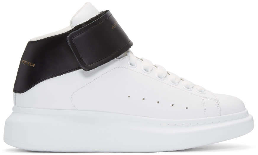 Alexander Mcqueen Black and White Oversized High-top Sneakers