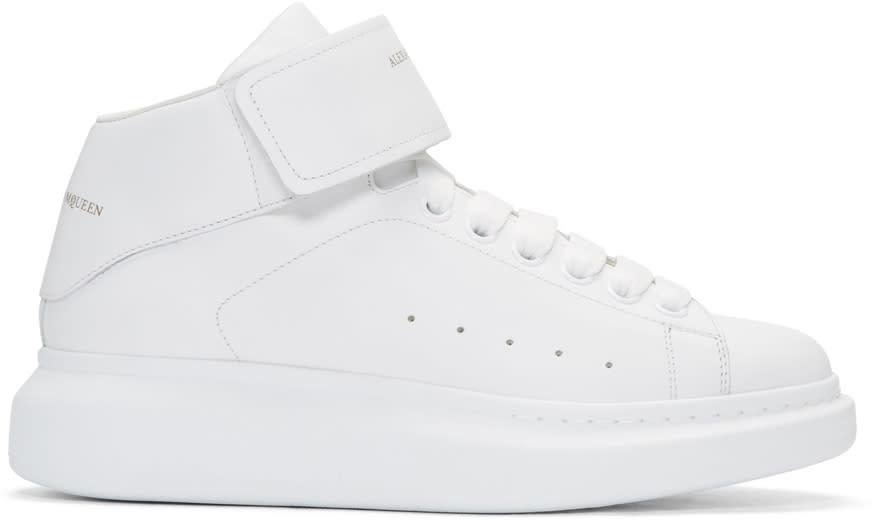 Alexander Mcqueen White Oversized High-top Sneakers