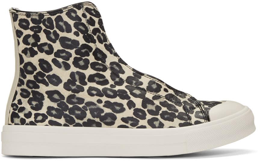 Alexander Mcqueen Ivory Leopard High-top Sneaker