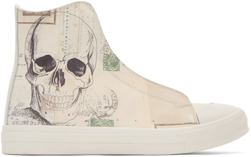 Alexander Mcqueen Off-white letters From India High-top Sneakers