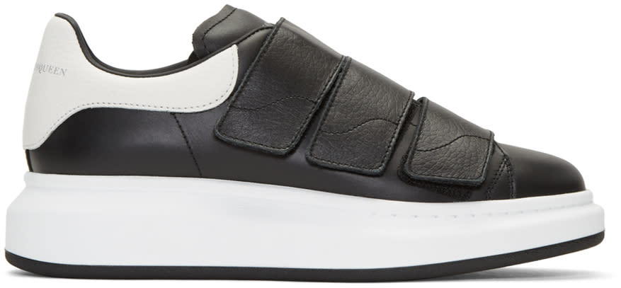 Alexander Mcqueen Black Leather Low-top Sneakers