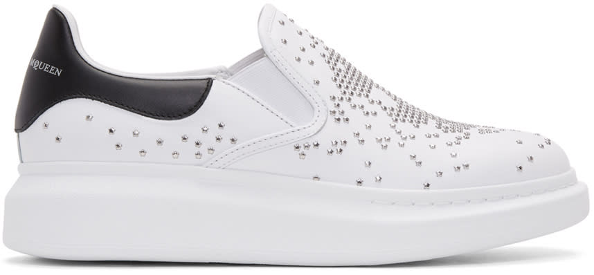 Alexander Mcqueen White Leather Oversized Sneakers