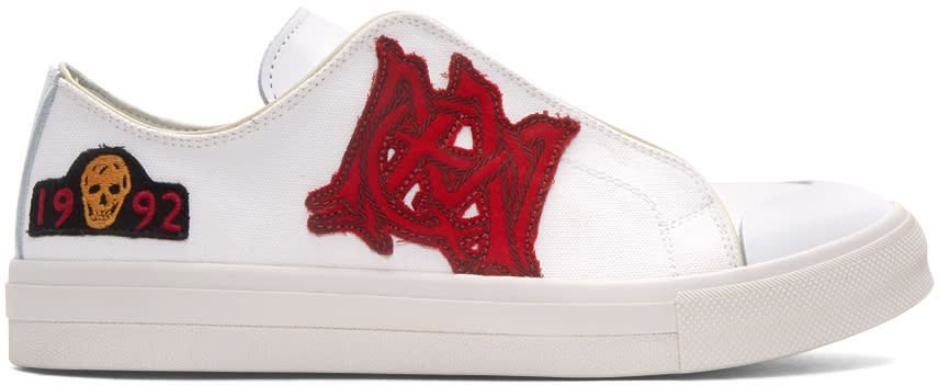 Alexander Mcqueen White Insignia Sneakers