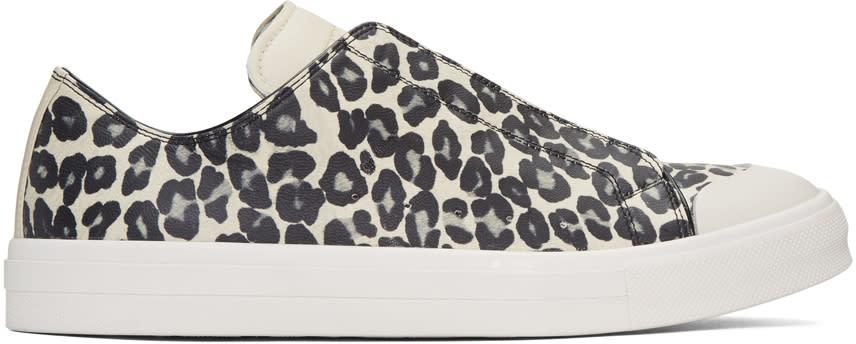 Alexander Mcqueen Tan Leopard Sneakers