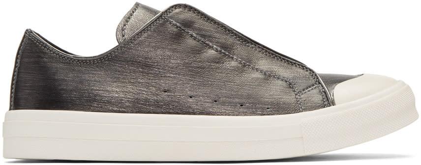 Alexander Mcqueen Silver Low Cut Sneakers