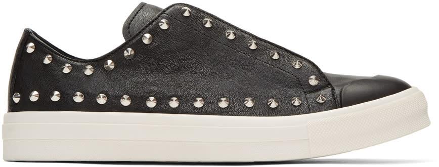 Alexander Mcqueen Black Studded Low Cut Sneakers