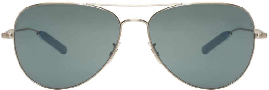 Paul Smith Silver Davison Aviator Sunglasses
