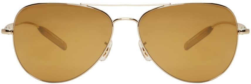 Paul Smith Gold Davison Aviator Sunglasses