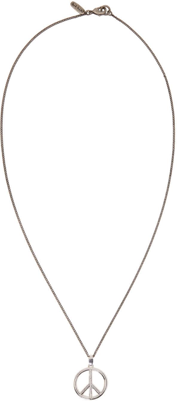 Paul Smith Silver Peace Pendant Necklace