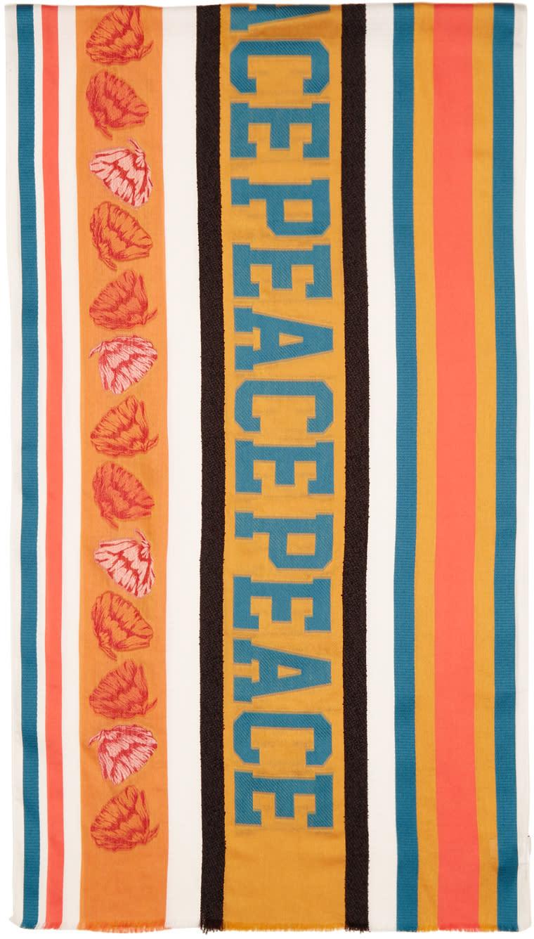 Paul Smith Multicolor Jacquard River Peace Scarf