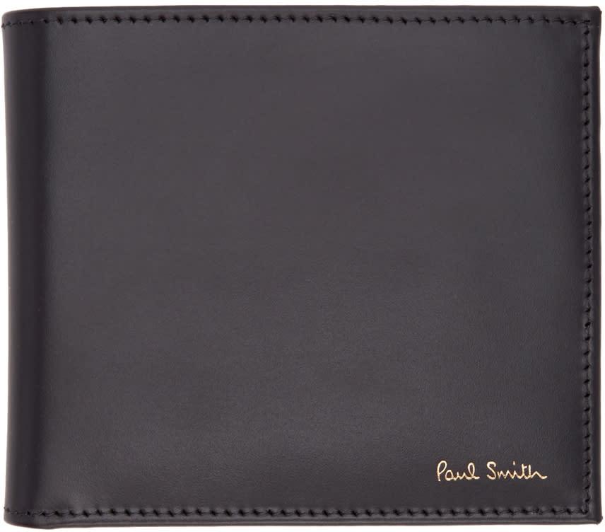 Paul Smith Black Multi Stripes Wallet