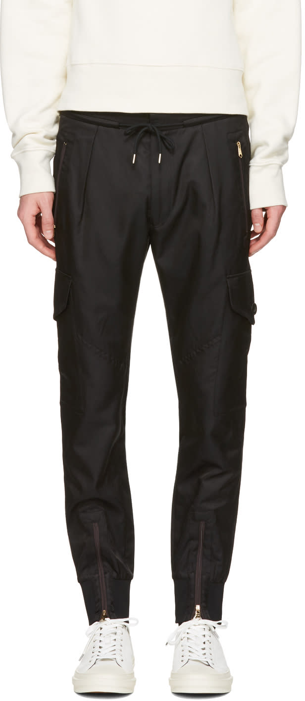 Paul Smith Black Multi-pocket Cargo Pants