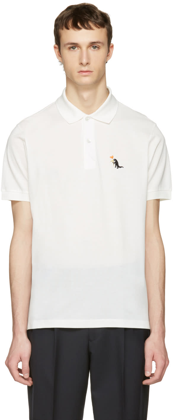 Paul Smith White Dinosaur Polo