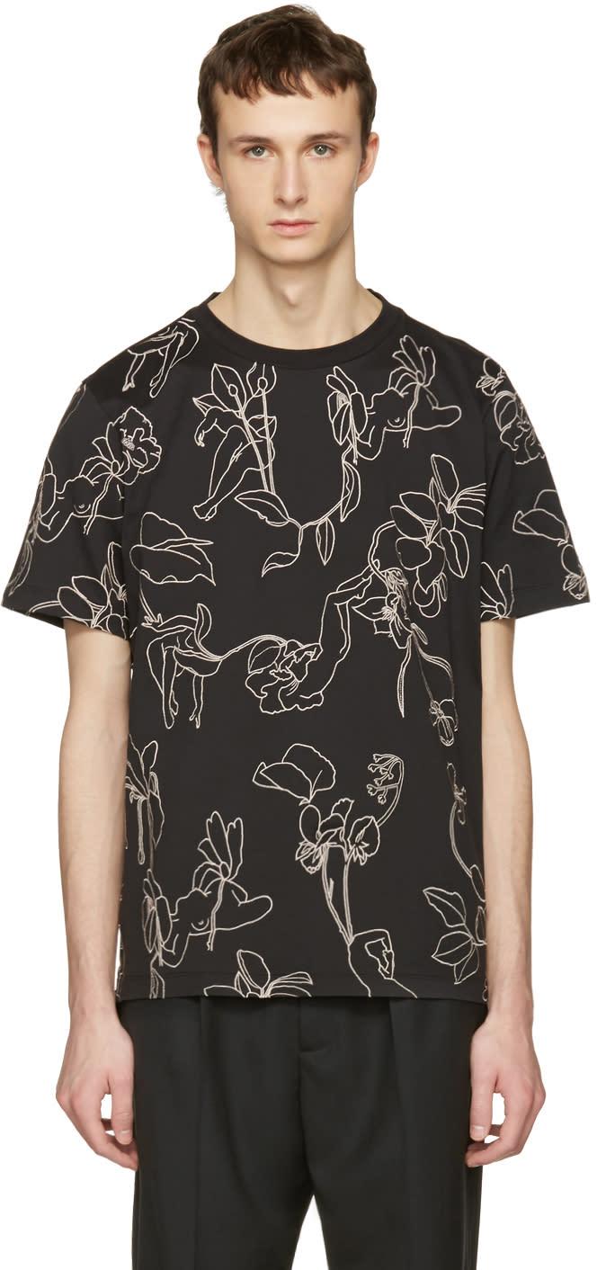 Paul Smith Black Floral T-shirt
