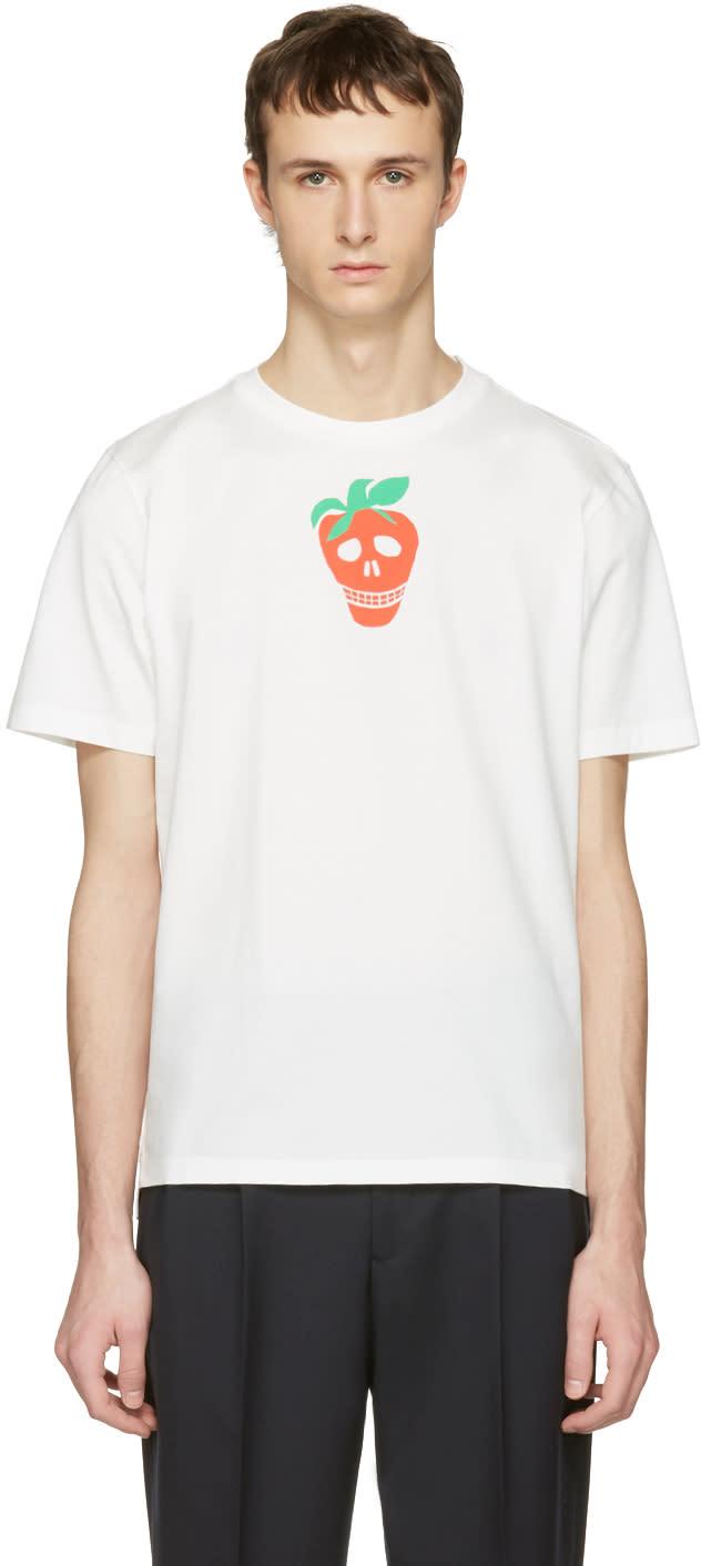 Paul Smith White Strawberry Skull T-shirt