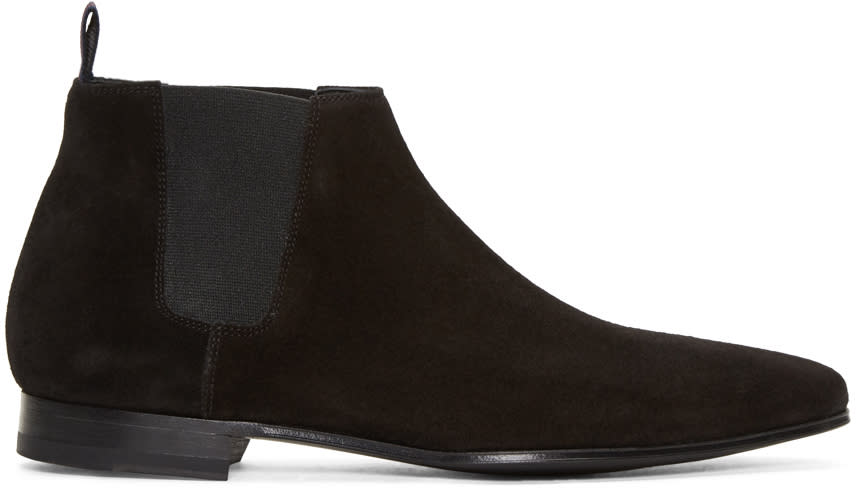Paul Smith Black Suede Marlowe Chelsea Boots