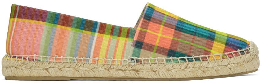 Paul Smith Multicolor Check Sunny Espadrilles