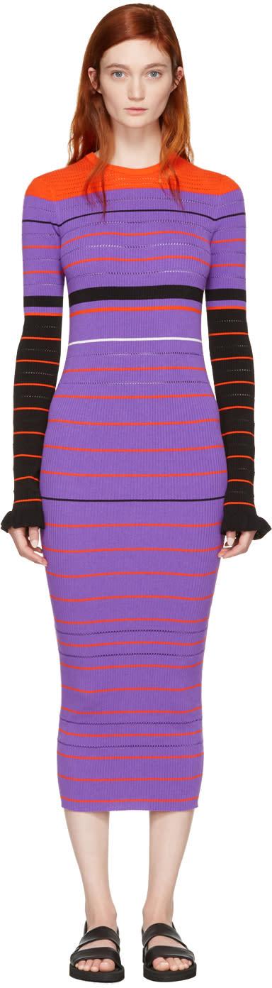 Opening Ceremony Purple Striped Maxi Dress