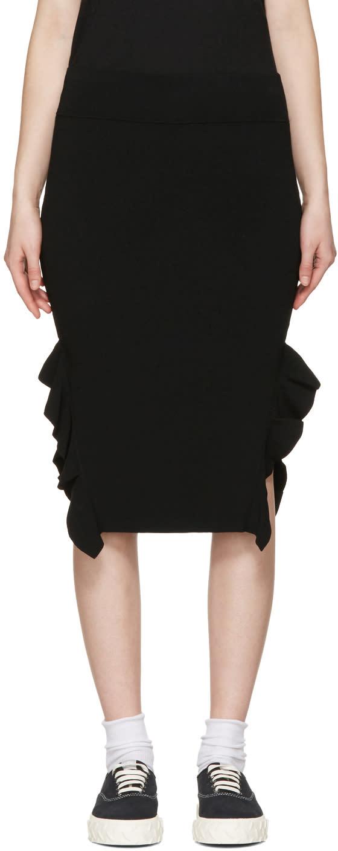 Opening Ceremony Black Side Flounce Skirt