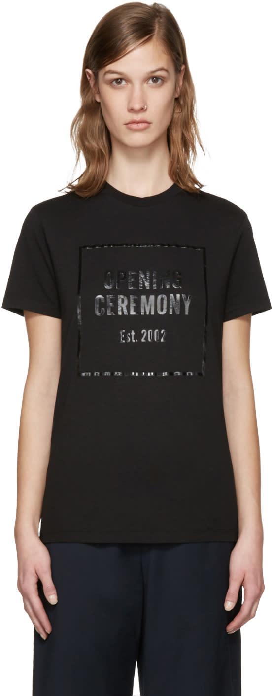 Opening Ceremony Black Gel Box Logo T-shirt