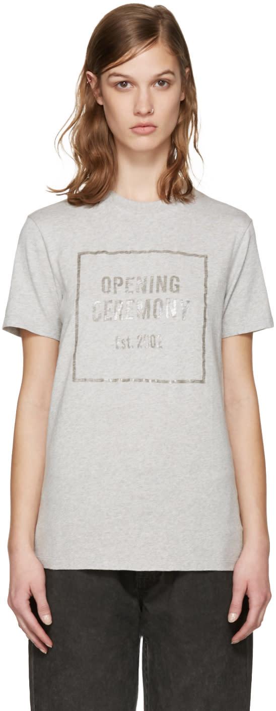 Opening Ceremony Grey Gel Box Logo T-shirt