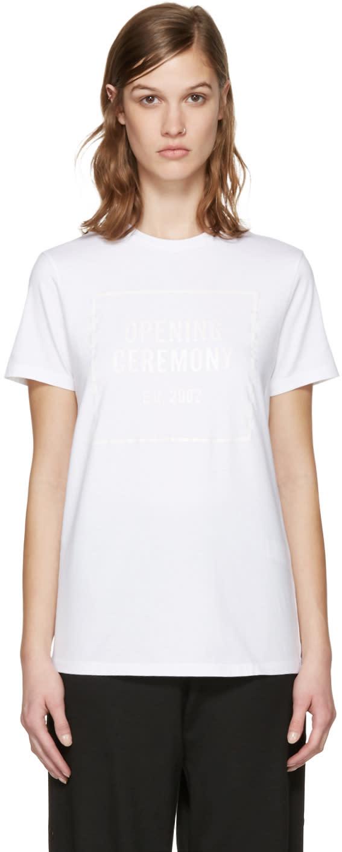 Opening Ceremony White Gel Box Logo T-shirt