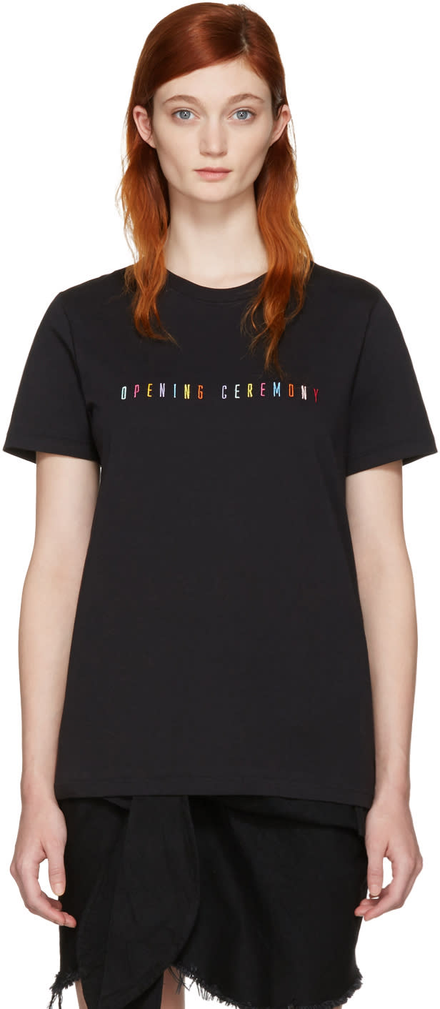Opening Ceremony Black Signature Logo T-shirt