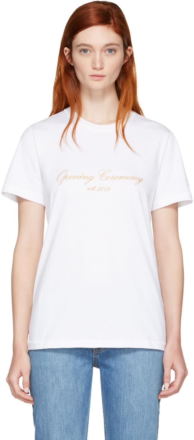 Opening Ceremony White Original Script T-shirt