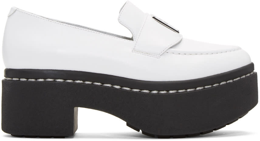Opening Ceremony White Platform Agnees Loafers