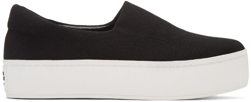 Opening Ceremony Black Classic Platform Slip-on Sneakers