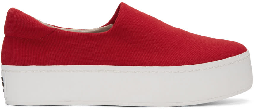 Opening Ceremony Red Cici Slip-on Sneakers