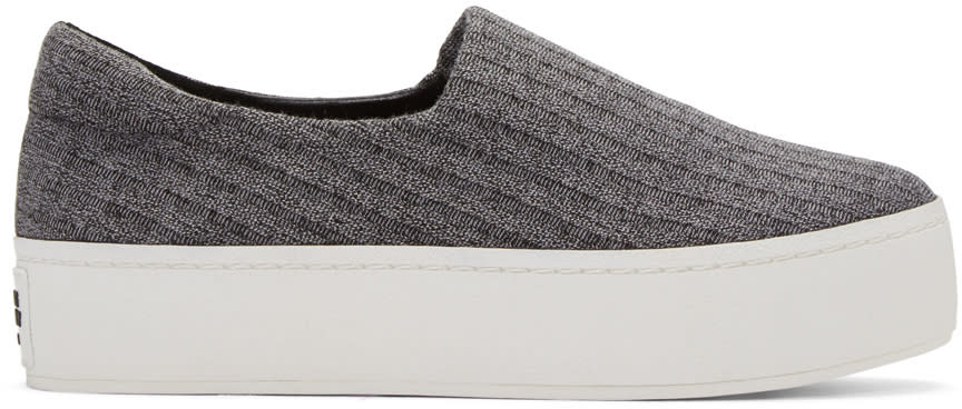 Opening Ceremony Grey Platform Cici Slip-on Sneakers
