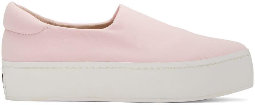 Opening Ceremony Pink Platform Slip-on Sneakers