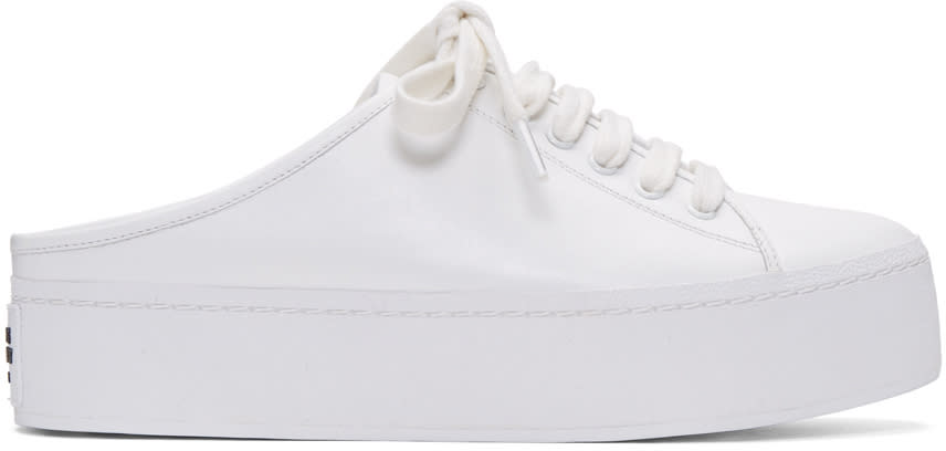 Opening Ceremony White Cici Lace-up Slide Sneakers