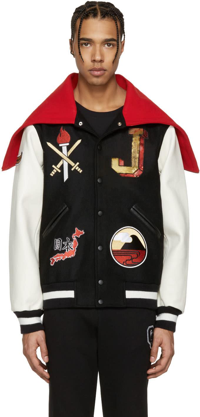 Opening Ceremony Black Japan Global Varsity Jacket