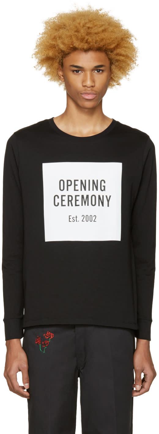 Image of Opening Ceremony Black Box Logo T-shirt