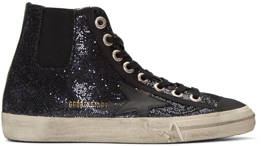 Golden Goose Blue V-star 1 High-top Sneakers