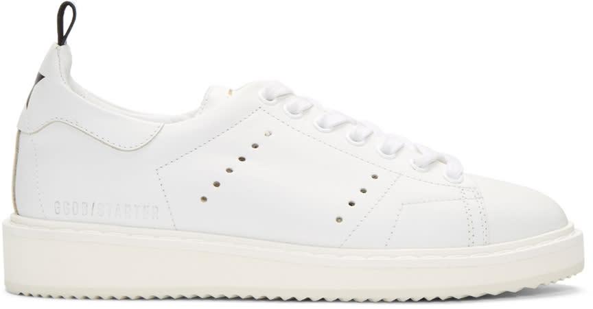 Golden Goose White Starter Sneakers