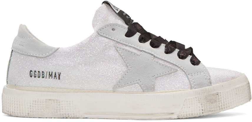 Golden Goose White Glitter Star May Sneakers