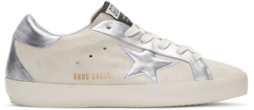 Golden Goose White Suede Bespoke Superstar Sneakers